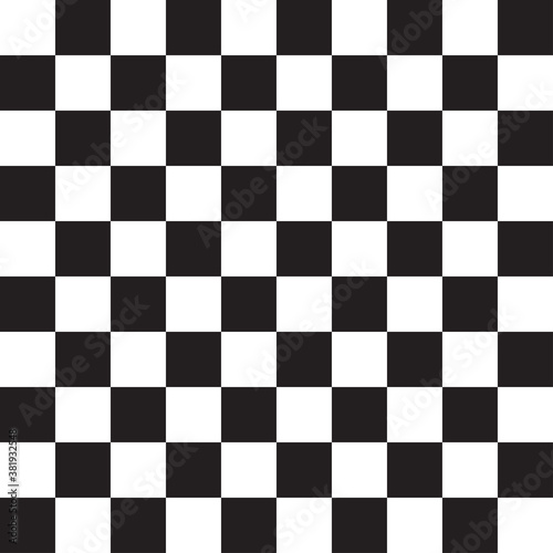 Fototapeta Seamless, repeatable checkered, chequered squares pattern and background