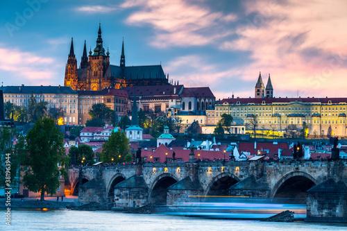 View of the city of Prague Wallpaper Mural