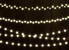 Christmas Lights On A Transpar...