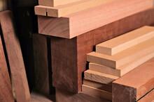Pile Of Lumber Varying Types O...