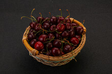 Sweet Cherry In The Basket