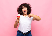 Young Woman With An Ice Cream ...