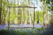 Wood Stick Frame Over Idyllic ...