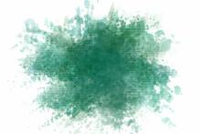 Green Abstract Splash Paint Ba...