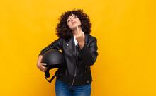 Motorbike Rider Woman Feeling ...