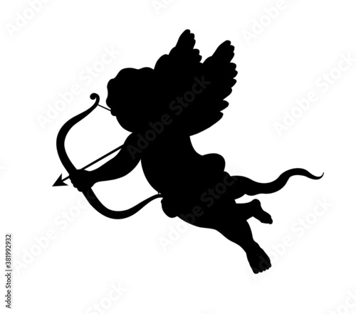cupid silhouette Canvas Print