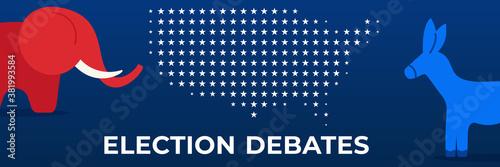 Papel de parede Presidential election in USA 2020 design template