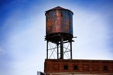 Metal Steel Water Tower On Top...