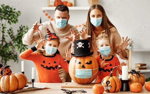 Slika na platnu Halloween during the covid19 coronavirus pandemic