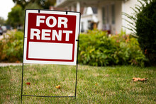 For Rent Sign In The Yard In F...