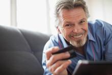 Portrait Smiling Senior Man Wi...