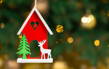 Wooden Xmas Toy. House With De...