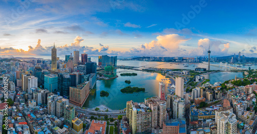 Fototapety, obrazy: Aerial photography of Macao Peninsula City Scenery in China