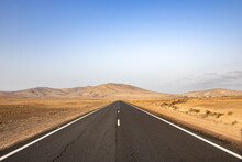 Deserted Road With Mountains I...