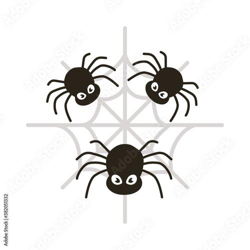 Fotografia, Obraz halloween spiders flat style icon