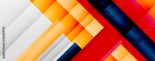 Cuadros en Lienzo Geometric abstract backgrounds with shadow lines, modern forms, rectangles, squares and fluid gradients
