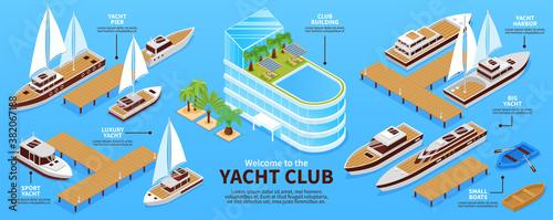 Isometric Yacht Club Infograhics