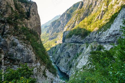 Moraca River Canyon Platije, Motnenegro. Wallpaper Mural