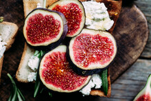 Toast With Cream Cheese, Figs ...