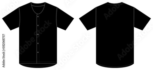 Foto Jersey shortsleeve shirt (baseball uniform shirt) template vector illustration