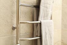Modern Heated Towel Rail On Ti...