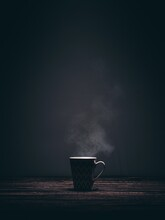 Basket On A Dark Background