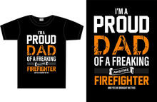 Firefighter Typography T-shirt Design