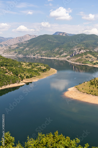 Fototapety, obrazy: Arda River meander and Kardzhali Reservoir, Bulgaria