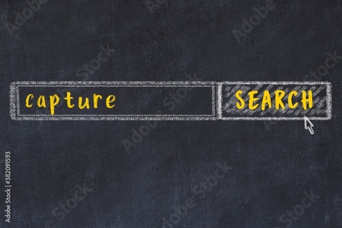 Chalk sketch of browser window with search form and inscription capture Canvas