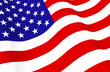 3d rendering. waving United State of America National Flag wall background.