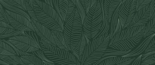 Tropical Leaf Wallpaper, Luxur...