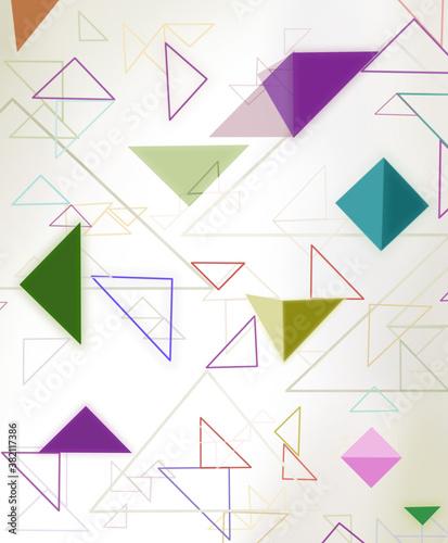 Okleiny na drzwi - Kolorowe - Wielobarwne  abstract-geometric-background
