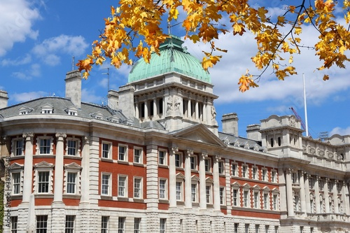 Admiralty House, London autumn Canvas Print