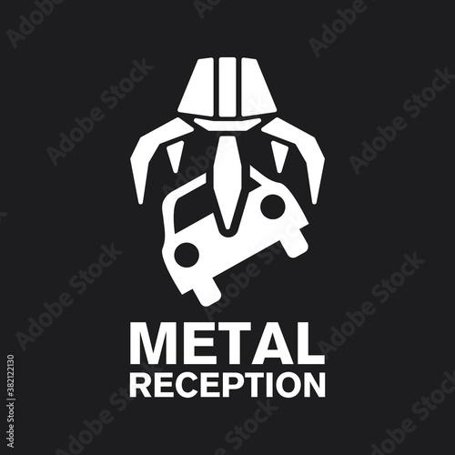 Fotografia vector logo reception and utilization scrap metal
