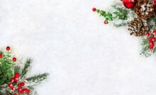 Christmas Decoration. Frame Of...