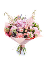 Wedding Bouquet  Isolated On W...