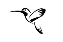 Fly Bird Logo Icon Vector. Des...