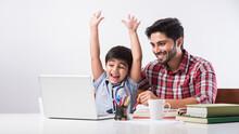 Online School In India Concept...