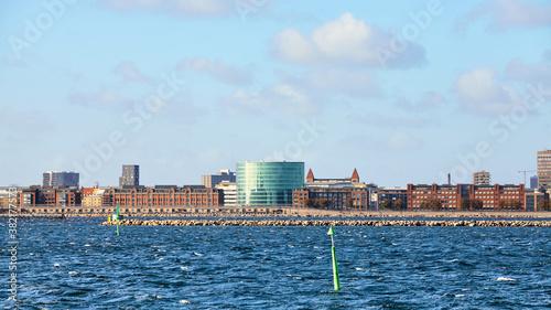 Obraz na plátne Copenhagen modern waterfront on a sunny day, Denmark.