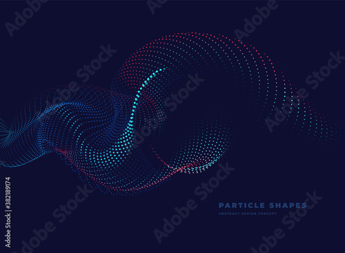Fotografía Abstract particle wave background