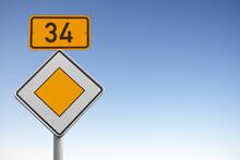 Bundesstraße 34, B 34, Verkehrsschild