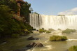 The mighty Iguazu River and Waterfalls between Brazil and Argentina