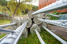 Concrete And Cement Poles For Fence