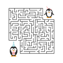 Maze Game - Labyrinth With Cut...