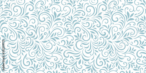 Fotografia Vector seamless pattern with leaves and curls