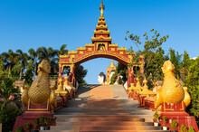Entrance To The Ko Yin Lay Pagoda, Pupawadoy Monastery Near Ye, Mon State