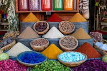 Display Of Spices And Pot Pour...