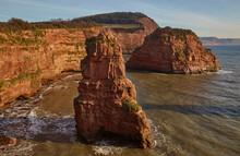 Red Sandstone Cliffs And Rocks...