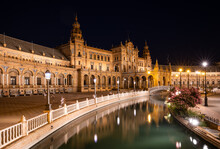 The Plaza De Espana At Night, ...