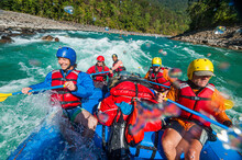 Rafting Through White Water Ra...